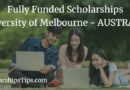 Fully Funded Graduate Research Scholarships, University of Melbourne, Australia